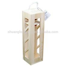 SLC12064 FSC&CARB single pine natural wood wine box