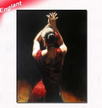 beautiful modern woman oil painting