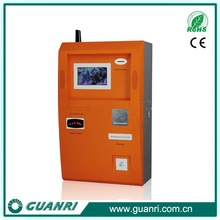 Low cost self service mobile phone number airtime recharge vending machine kiosk