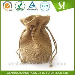 China Factory customized burlap bag drawstring