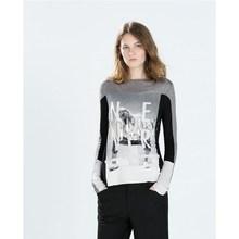 message printed fashionable teen girl t shirt