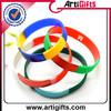 Colorful custom segment colors silicone bracelets