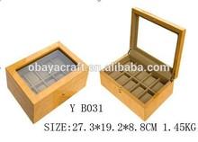wooden watch display case