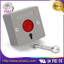 Door access push button reset switch