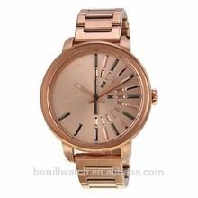 2015 fashion rose gold wrist watc advertisement of watches stainless steel men wholesale china