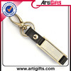 Artigifts company professional souvenir leather custom metal keychain
