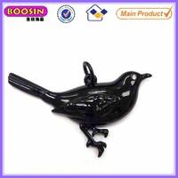 Vivid bird shaped charm black metal jewellery #17399