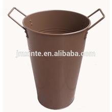 round metal home and garden flower pot galvanized floral bucket