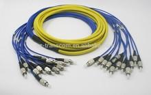 FC UPC SM 9/125 5M Fiber Optic Patch Cord with 12 FC connectors/ fiber optic patch cord
