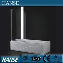 HS-OEM-L bath screen/ glass bathtub doors/ glass shower screen