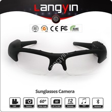 Popular hidden mp3 player and camera sunglasses with bluetooth THB688C