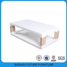 living room European wood slab coffee tables