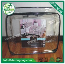 Clear PVC Bag with Zipper for bedding packaging, Transparent Vinyl Bag, Clear PVC Zipper Bag