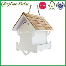 natural wood shingle roof bird house