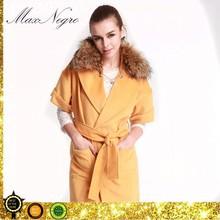 Removable fur collar sleeveless cheap christmas waistcoats for women