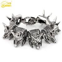 guangzhou kalen newest chic jewelry design forest wolf bracelets