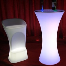 Elegant and graceful waterproof LED plastic illuminated light seat chairs