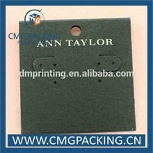 Brand Logo Custom Jewelry Tags,Newest Custom Printed Earring Cards,Custom Earring Card Holder
