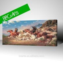 abstract running horses digital c print definition