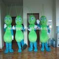 Hola verde precioso traje de hormiga/traje de insectos