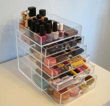 hot sale clear plastic plexiglass makeup organizer/large makeup organizer storage box/cosmetic makeup organizer