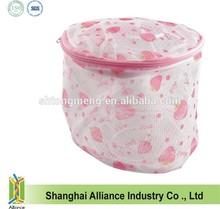 Silk screen floral mesh bra laundry washing bag