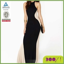 Top quality hot sale sexy long dress design knitted fashion dress stitching designs