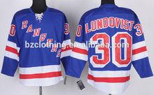 Henrik Lundqvist #30 New York Rangers Ice Hockey Jersey
