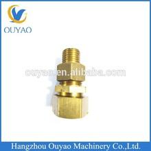 cnc mechanics, micro machining or not, brass CNC micro machining male thread fitting