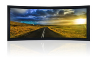 "140"" 2.35:1 Curved Cinemascope Fixed Frame Screen - Black Velvet Frame 10Cm"