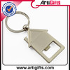 Cheap gold plated tag metal keychain