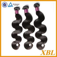 "Wholesale 3 bundles/set 12"" 14"" 16"" natural body wave 100% virgin Brazilian remy hair"