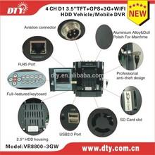 2015 DTY factory 4 ch google map gps tracking 3g vehicle dvr ,VR8800-3GW