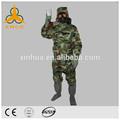 Utiliza la fisión ropa protectora( bioquímicos traje)