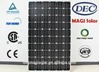 MGSM250-60 250W Monocrystalline solar pv Panels, JET, CB,TUV,CEC,CSA