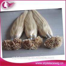 Fashion Nail U-tip Human Hair/brazilian Nail U-tip Hair Extension/hair skin and nail