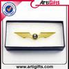 Custom cheap metal uae national day wing gold lapel pin