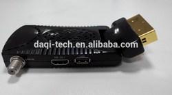 Turkey hotsale Mini SCART HD DVB-S2 Satellite Receiver with BISS DB AC3 support CKD.