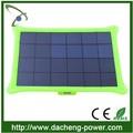 /negro rojo/azul/5w verde panel solar precio de lista de la batería con las luces al aire libre
