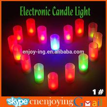 6 Led White Tea Light Votive Flameless Battery Candles Wedding Party Romantic