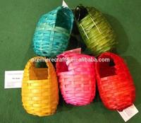 super cheap colorful bamboo woven/weaving bird house/bird nest