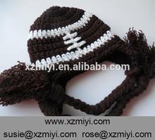Handmade Crochet Winter knitted Baby Animal Hat Kids Football Beanie Cap