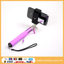 Innovation 2015!!! Hot sale Wired Monopod cable take pole RK90E selfie stick with mirror