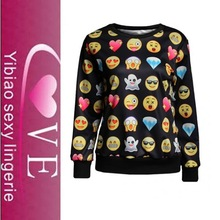 high quality expression printing cute pattern sweater 2015