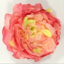Decorative soft cheap artificial flower head of peony