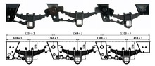 German tractor trailer mechanical 60 pin suspension