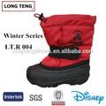 Moda a prueba de agua los niños botas de invierno rojo