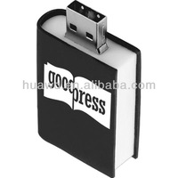 book shape usb flash pen drive with custom logo and capacity for corporate gifts