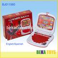Caliente del cabrito del juguete del hombre araña juguetes educativos los niños de plástico del ordenador portátil