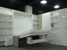 Simple wall bed murphy bed folding bed space saving bedroom furniture